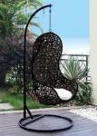 Κουνιστή καρέκλα μαύρη