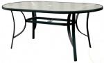 Τραπέζι οβάλ με τζάμι