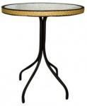 Τραπέζι στρογγυλό με τζάμι