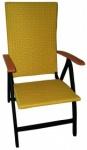 Πολυθρόνα πτυσσόμενη 5 θέσεων με Rattan