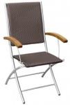 Πολυθρόνα πτυσσόμενη με συνθετικό Rattan