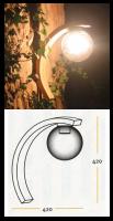Φωτιστικό Τοίχου Μπάλα Lux