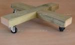 Ξύλινη βάση για τετράγωνη γλάστρα